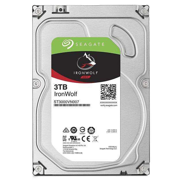 "3TB Seagate: IronWolf [3.5"", 6Gb/s SATA, 5900RPM] - Internal NAS Hard Drive"