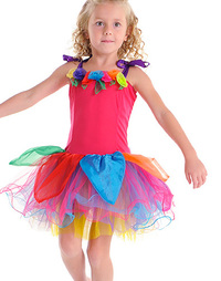 Fairy Girls - Gum Drop Dress in Rainbow (Small, age 1-4)