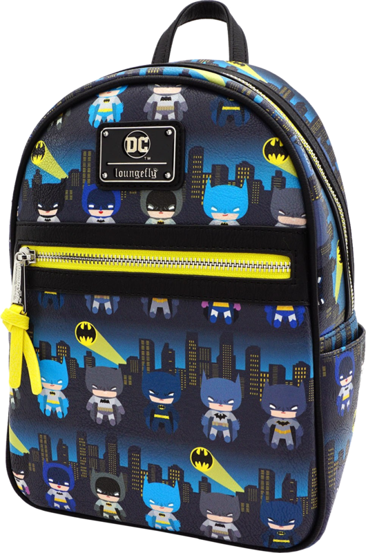 Loungefly: Batman - Gotham City Chibi Print Mini Backpack