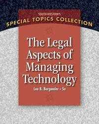 Legal Aspects of Managing Technology by Lee Burgunder image