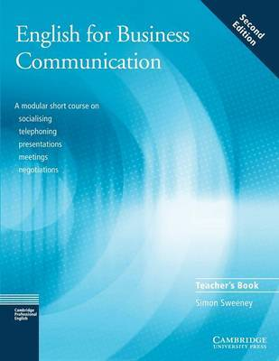 English for Business Communication Teacher's book by Simon Sweeney image