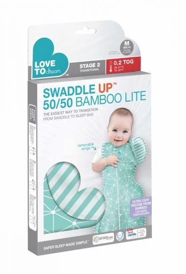 Swaddle UP Transition 50/50 Bamboo Lite - Mint (Large) image