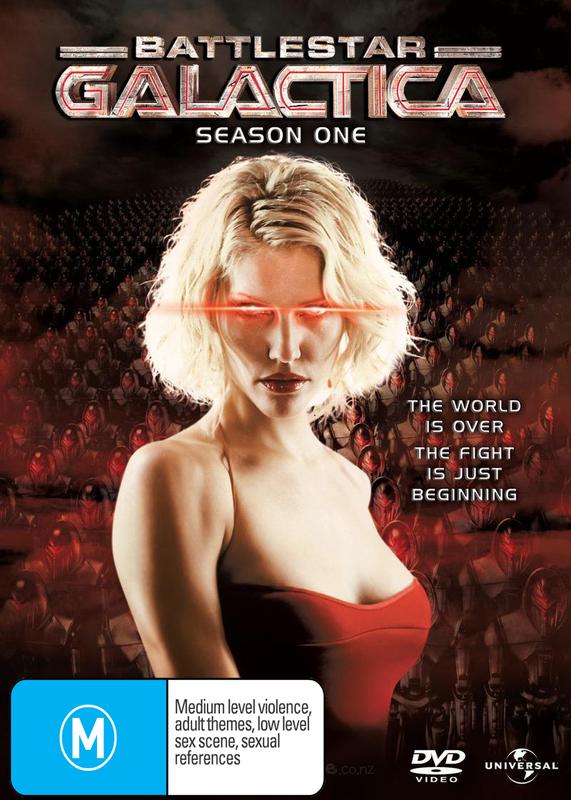 Battlestar Galactica 2004 - Season 1 (4 Disc Slimline Set) on DVD