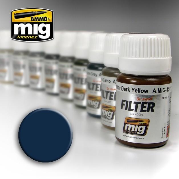 Ammo of Mig Jimenez: Filter Jar - Blue (For Dark Grey)
