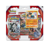 Pokemon TCG Sun & Moon Crimson Invasion 3 Pack Blister: Lucario