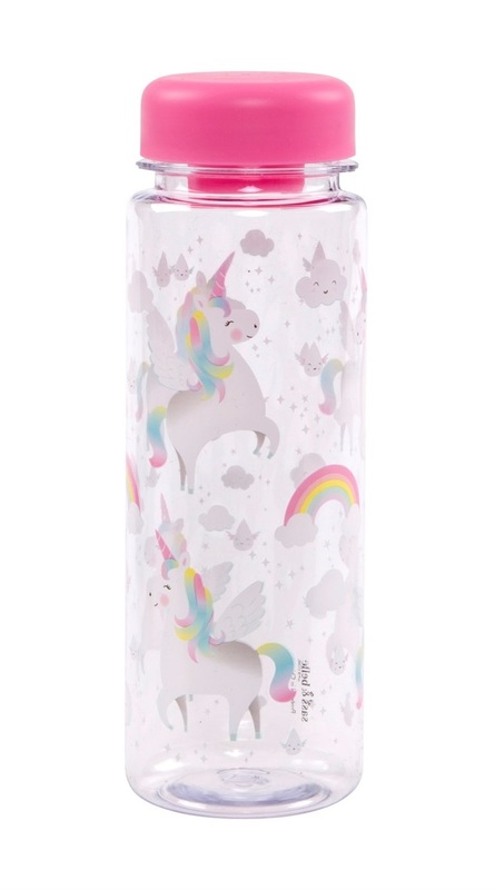 Rainbow Unicorn - Clear Water Bottle