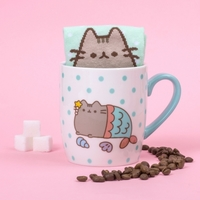 Pusheen the Cat Socks in a Mug - Mermaid