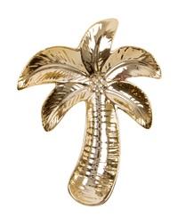Gold Palm Tree Shaped - Trinket Dish