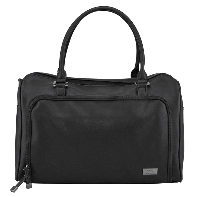 Isoki: Nappy Bag Double Zip Satchel - Onyx