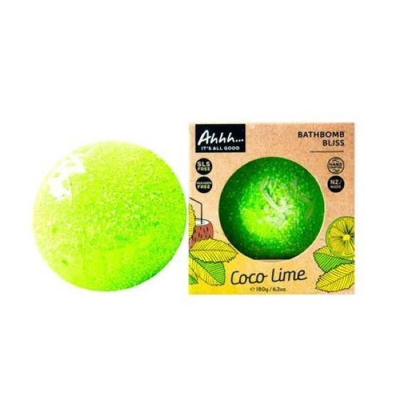 Ahhh Soaps: Bath Bomb - Coco Lime (180g)