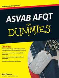 ASVAB AFQT For Dummies by Rod Powers image