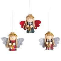 Tartan Angel Doll With Bell Hanging Dec Ass