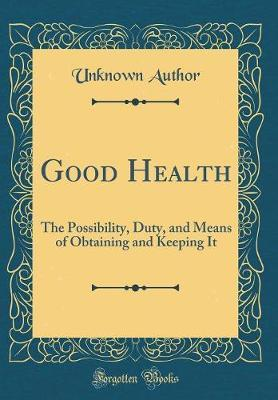 Good Health by Unknown Author
