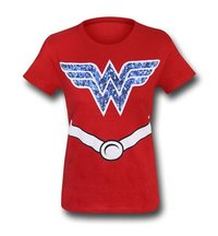 DC Comics Wonder Woman Girls T-Shirt (Medium)