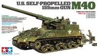 Tamiya 1:35 US Self-Propelled 155mm Gun M40 Model Kit