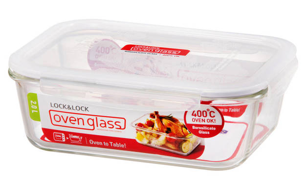 Lock n Lock Glass Euro Glass Rectangle Container