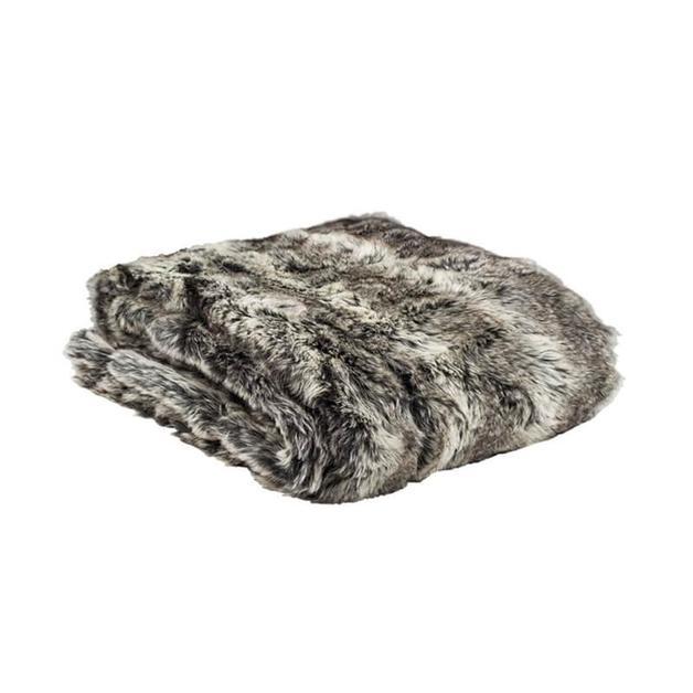 Bambury Faux Fur Throw (Chinchilla)