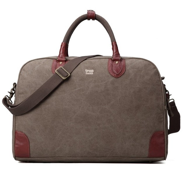 Troop London: Classic Large Holdall - Brown
