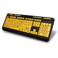 Adesso: Wired EasyTouch 132 – Luminous 4X Large Print Multimedia Desktop Keyboard