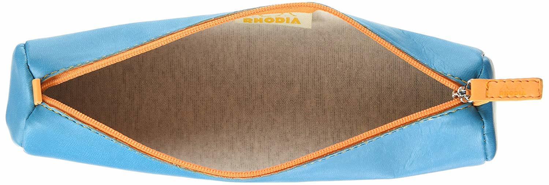 Rhodiarama Round Pencil Case - Turquoise image