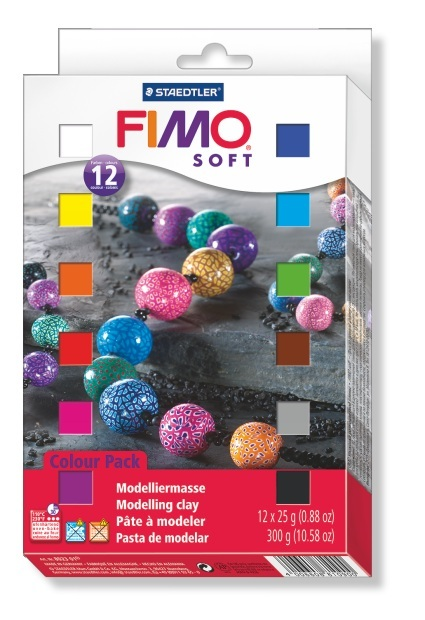 Staedtler Fimo Soft Modelling Clay - Set Of 12 Half Blocks (Assorted Colors) image