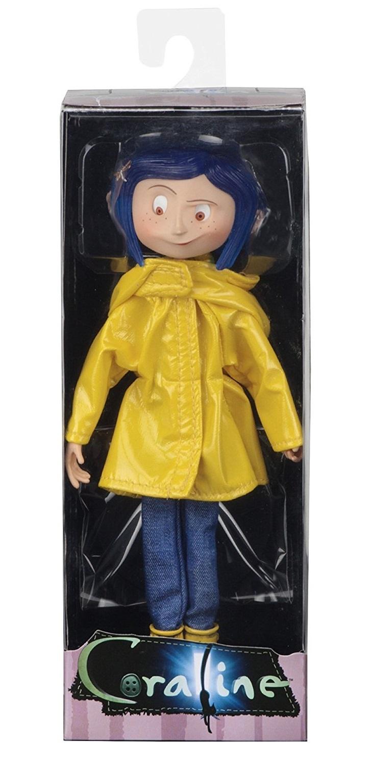 """Coraline Bendy Fashion Doll in Raincoat and Boots 7/"""" PVC Action Figure Toys"""