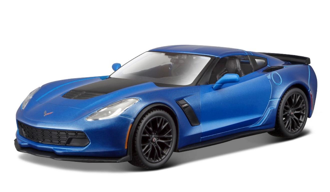 Maisto: 1:24 Die-Cast Vehicle - 2015 Corvette Z06 (Blue) image