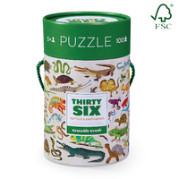 Crocodile Creek: Reptiles and Amphibians Puzzle -100pc