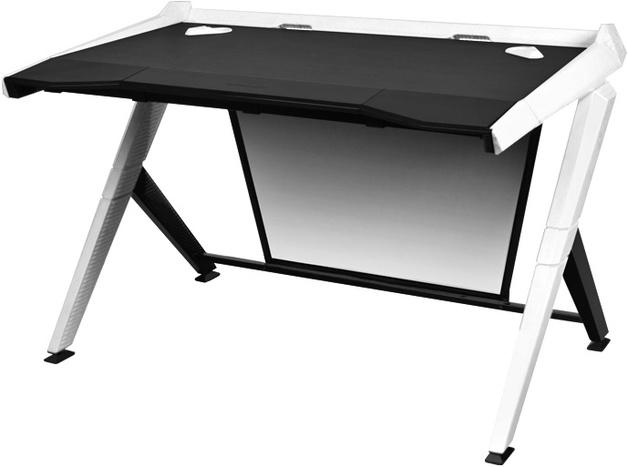DXRacer Gaming Desk (Black & White) for