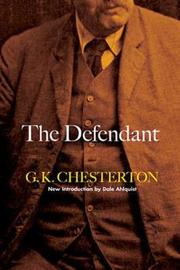 The Defendant by G.K.Chesterton