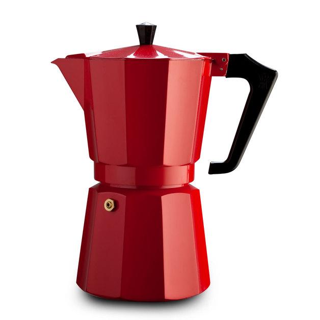 Pezzetti: Italexpress Aluminium Coffee Maker - Red (14 Cups)