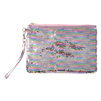 Reversible Sequin Accessory Pouch - Pearlescent