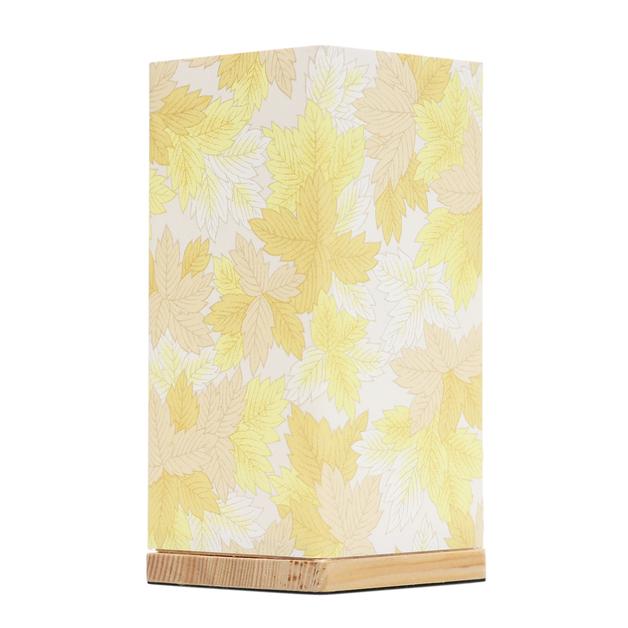 Kami Lamp Maple Leaves (Yellow)