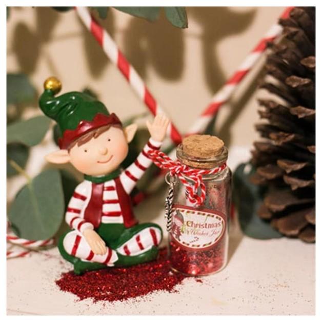 Christmas Elf Figurine With Jar