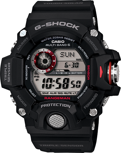 Casio G-Shock Rangeman Digital Mens Black Rangeman Watch GW-9400-1DR