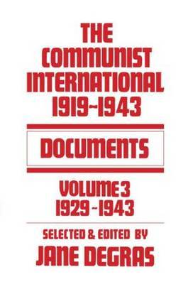Communist International by Jane Degras