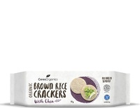 Ceres Organics Brown Rice Crackers with Chia (115g)