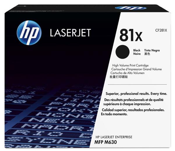 HP 81X Black High Yield Toner