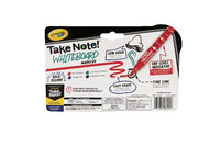 Crayola: Take Note - Fineline Bullet Tip Whiteboard Markers - Black,Blue,Red,Green (4 Pack) image