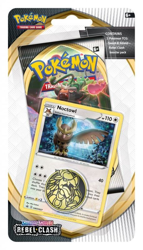 Pokemon TCG: Sword and Shield Rebel Clash Checklane Blister- Noctowl