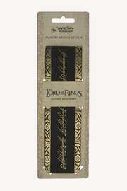 Lord of the Rings: The One Ring Inscription Leather Bookmark