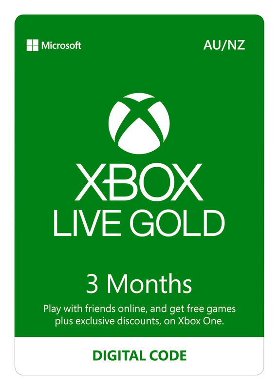 Xbox Live Gold - 3 Month Subscription (Digital Code) for Xbox One