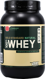 Optimum Nutrition 100% Natural Whey Gold Standard - Chocolate (907g) image