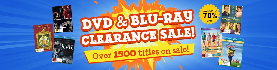 DVD and Blu-ray Clearance Sale!