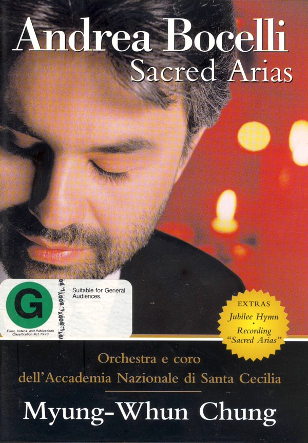 Andrea Bocelli - Sacred Arias on DVD image