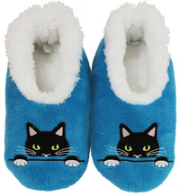 Slumbies Peek-A-Boo Cat Pairables Slippers (S)