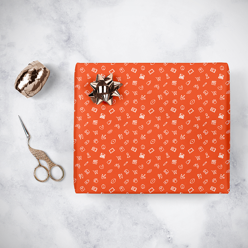 Gorilla Gift: Wrapping Paper - Everyday Orange (5m) image