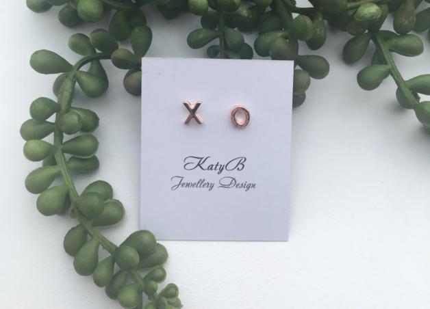 Katy B Jewellery: XO Earrings - RoseGold