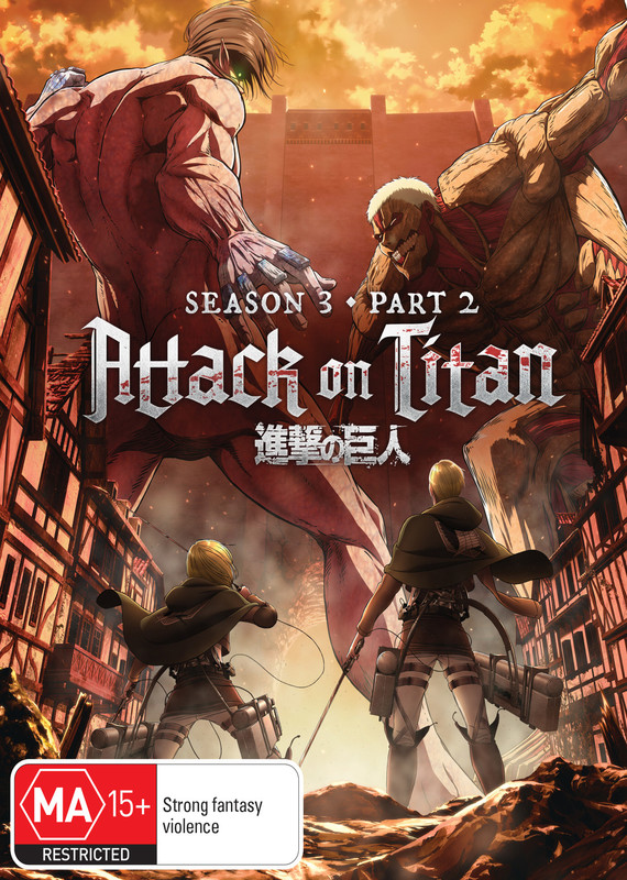 Attack on Titan - Season 3: Part 2 (Eps 50-59) DVD / Blu-ray Combo (Limited Edition) on DVD, Blu-ray