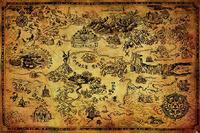 Legend Of Zelda Poster - Hyrule Map (530)